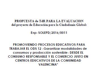 Publicación de Términos de Referencia para la Evaluación proyecto de Educación para la Ciudadanía Global
